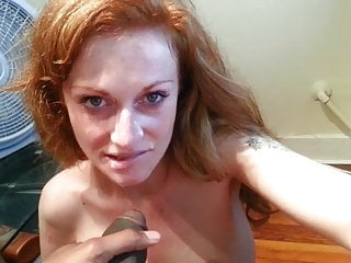 Horny Redhead Rubs Clit Until BBC Jerks Off On Her Face