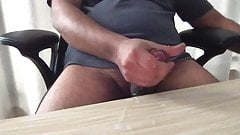 wank and cumshot masturbation