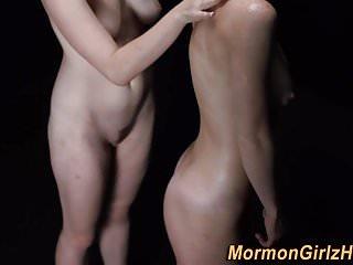 Teen mormons ride dildos