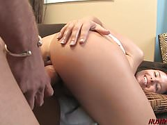 Young Danica Dillan ravaged by big white dick