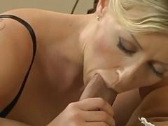 Blonde MILF lubricates lover's cock 18-43