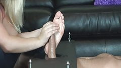 girl feet and a big cock's Thumb