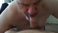 Daddy Colin blows cock