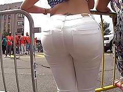 Phat Ass Dominicana in White Jeans