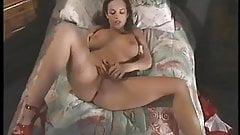 Hot Red Head Touches Herself On Bed