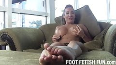 I will make your dick diamond hard with my feet