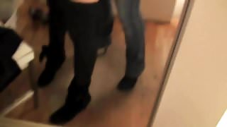 Lesbian Strap On Sex In Mall Changing Room