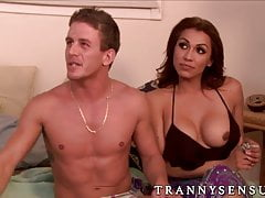Hot threesome with Madison Montag and busty Jessy Dubai