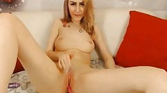 Sweet Blonde Babe Toying and Fingers Her Pussy