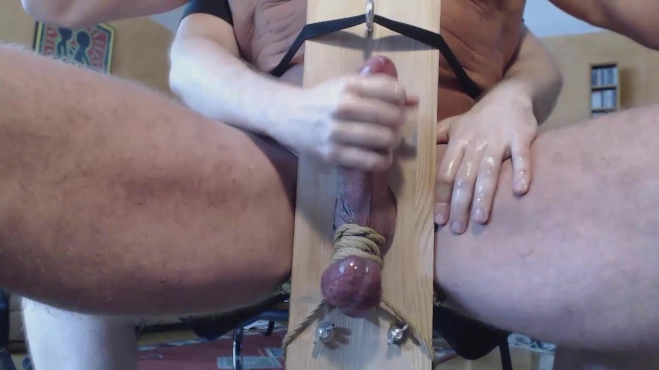 Hand Job With A Huge Cock