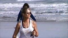 Teen jogging candid girls