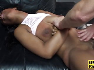 Black british sub face and pussyfucked