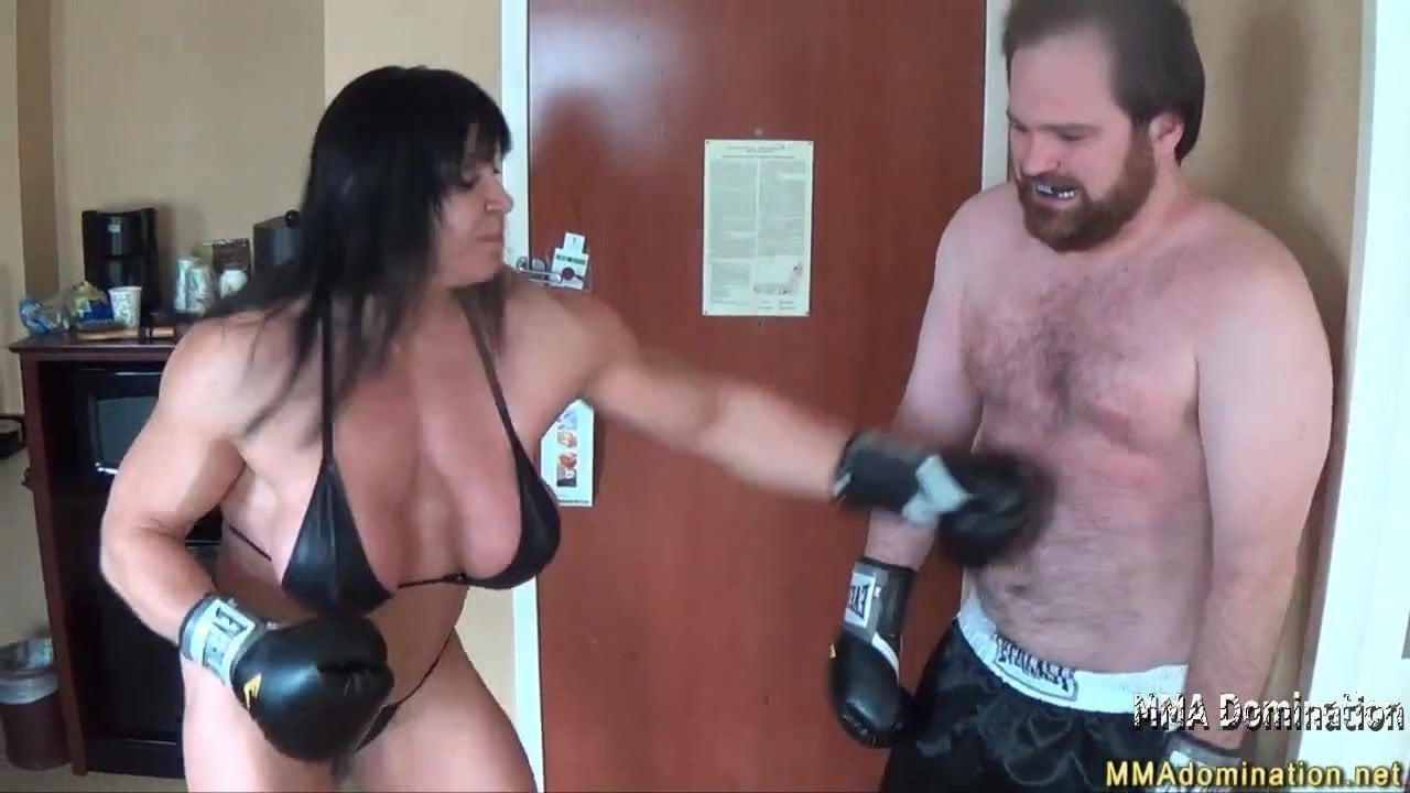 Mixed Boxing- Muscle Hot Girl Beatdowns