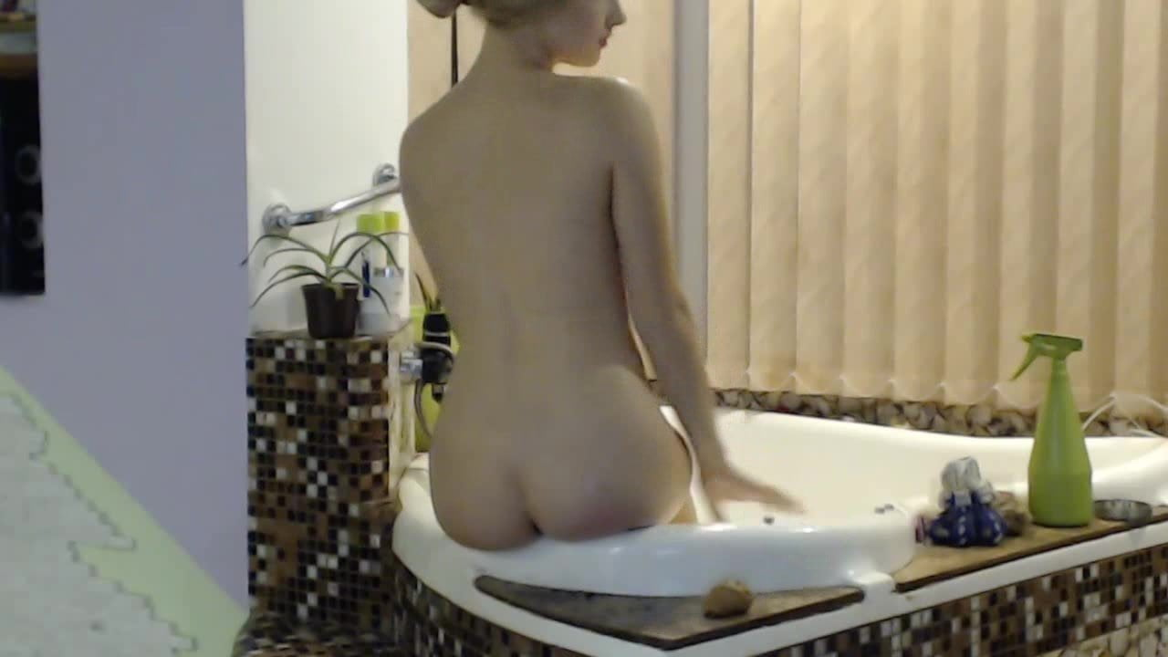 blonde within the bathtub
