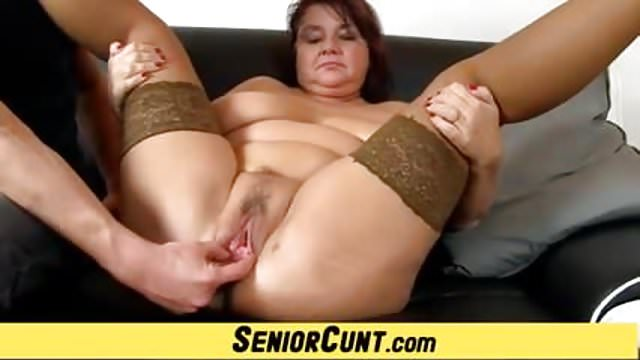 Preview 1 of Fatty elder cunt spreading with housewife Eva