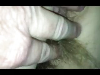 playing with the wifes hairy,asscrack & long pussy hair