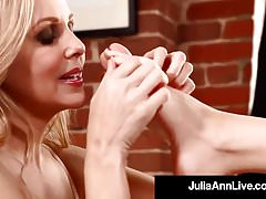 Hottest Milf Julia Ann & Kimberly Kane Worship Their Feet!