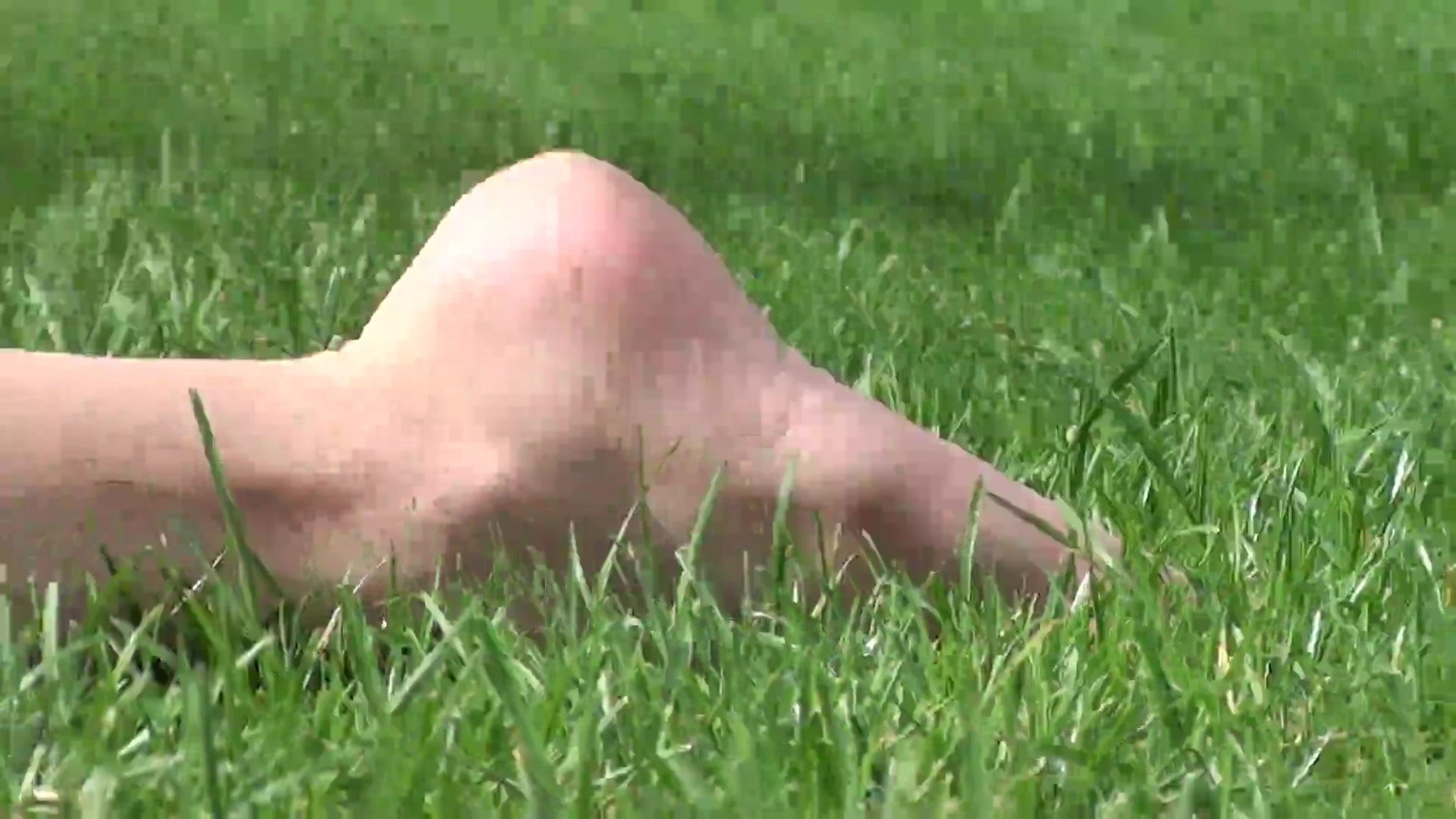 Candid Feet in Park #3