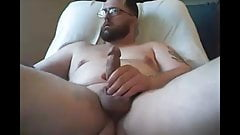 submissive chub exposed edging and cumming