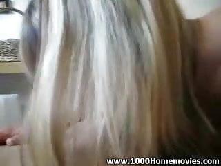 my amateur blond girlfriend sucking my cock