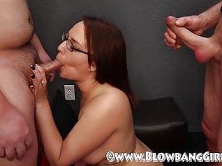 Alisha Adams BlowBang Sucking 6 Dicks