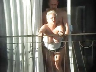 Preview 1 of sex and balcony (Voyeur get caught)