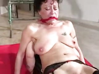 Mature with saggy tits tortured by perverse couple part 3