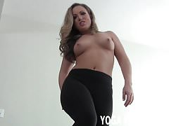 Stroke your cock to me in my yoga pants JOI