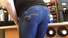 Muffin Top Tight Jeans Ass Bent Over