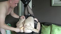 Homemade painful anal milf sex video