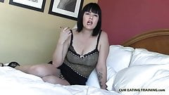 Swallow your cum like a good slave CEI