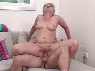 Real mature moms suck and fuck young sons