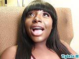 Chubby black tgirl shakes booty and jerksoff