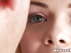 Young gonzo beauty blows and fucks older male
