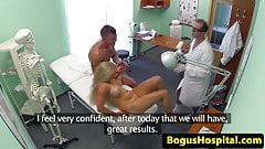 Real couple fucking in the examination room
