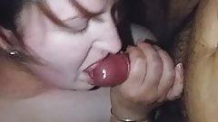 Cheating wife milks cock