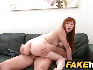 Preview 4 of Fake Agent Creampie for new Redhead American model