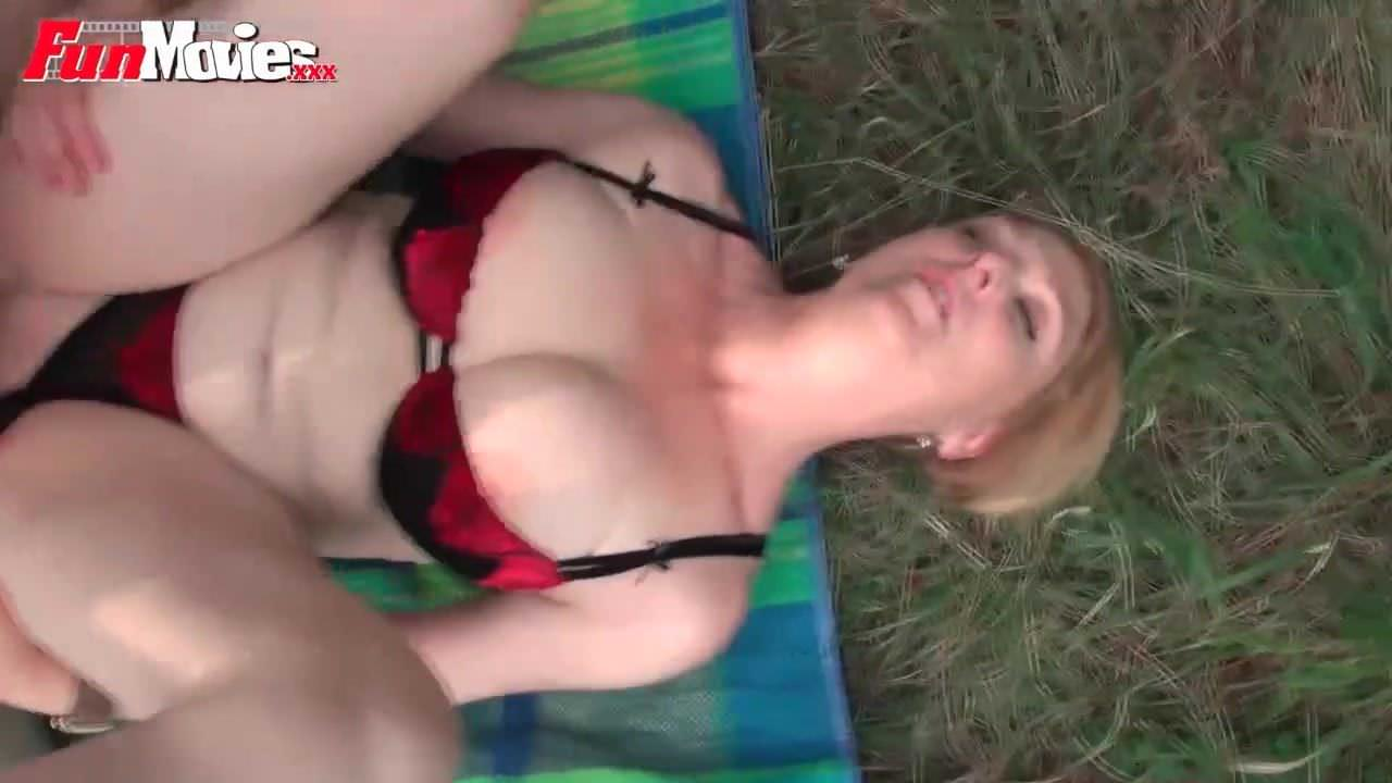 Stunning blonde playing with pussy