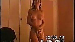First mature striptease homemade