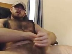 Hairy Thick Boy Rips his Tank Top and Jerks off His Dick