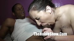 Monster Cock Fucks white pink Pussy donkey ass's Thumb