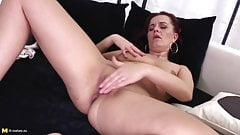 Lovely real mother with thirsty ass and pussy