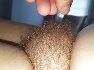 exposing her soft tired hairy bush early morning