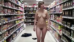 stranger flashes quickly in the supermarket