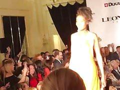 Accidental nipple slip during fashion show in Geneva