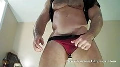 Young cumming leather muscle stud!