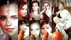Emma Watson - wall of my cum tributes x8