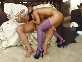 Brown-skinned Latina give a great blow job to white boy