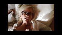 Hot Blonde Gets Massive Facial After Footjob