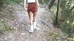 Peeing in my panties in the forest
